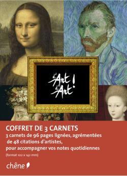Coffret de 3 carnets de notes d'Art d'Art A6