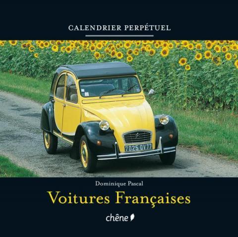 Calendrier perpétuel voitures françaises