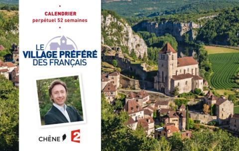 Calendrier 52 semaines Le Village préféré des Français