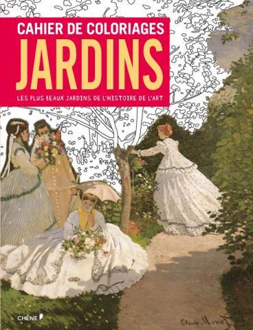 Cahier de coloriages Jardins petit format