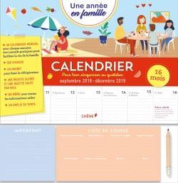 Calendrier de la famille - Sept 2018/ Déc 2019 - Une année en famille