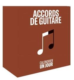 Calendrier Un jour - Accords de guitare